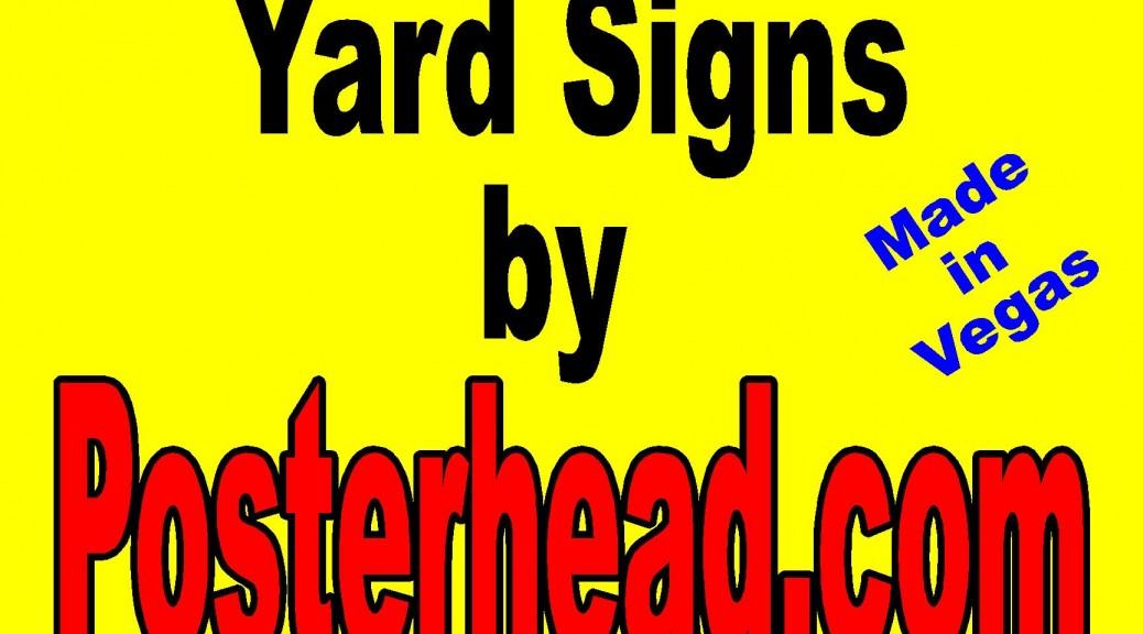 """18"""" x 24"""" Yard Signs"""
