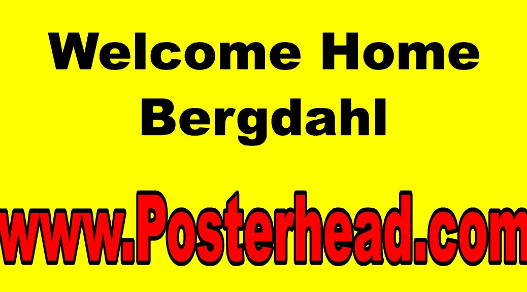 Signs for Sgt. Bowe Bergdahl