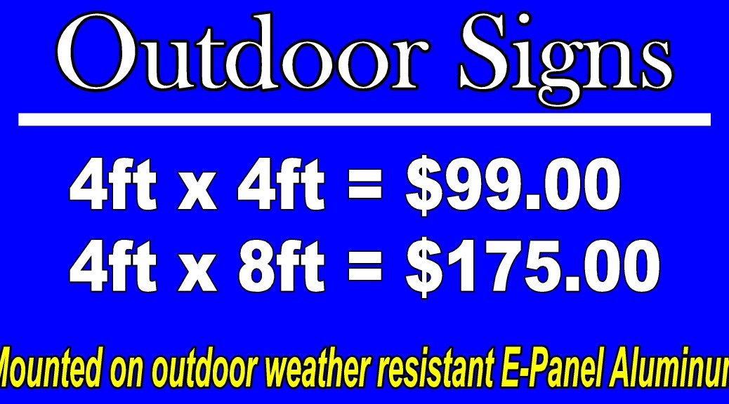 Custom For Sale Signs