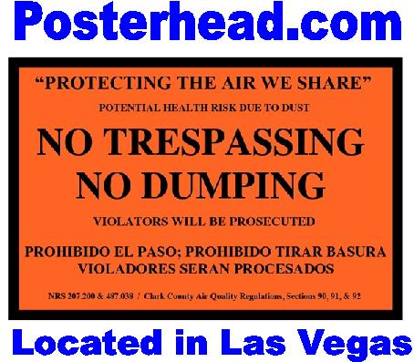 Orange No Trespassing Signs