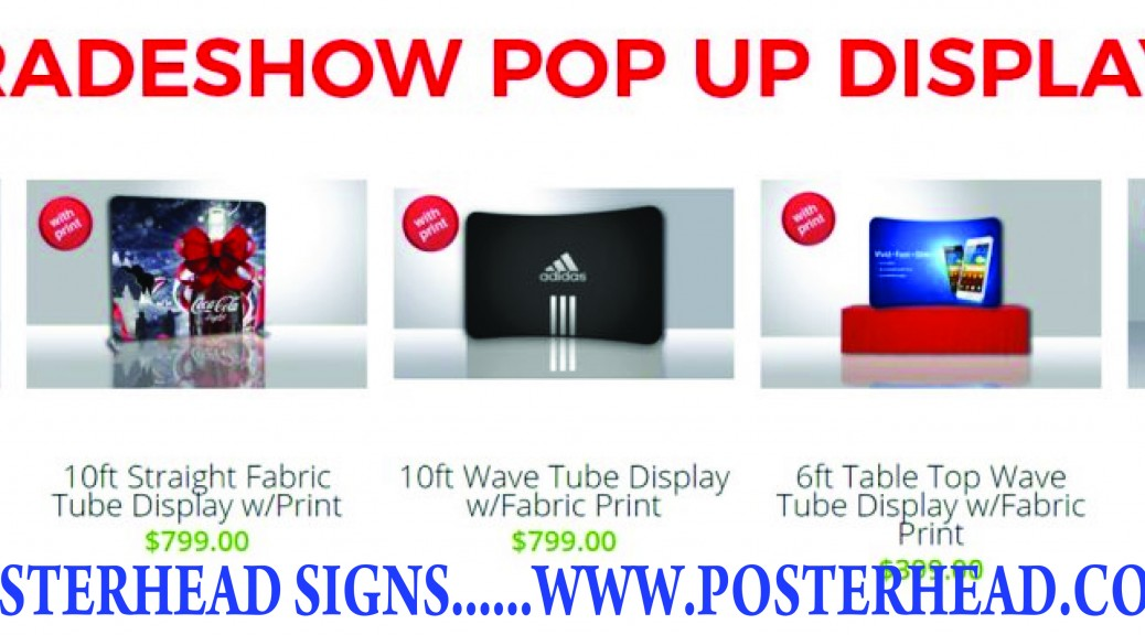 Event Fabric Pop Up Displays