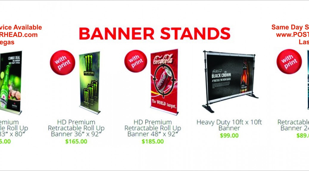 Sign Company Making Banner Stands