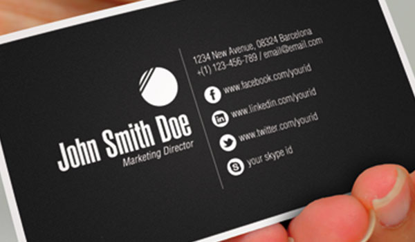 Business card printing.