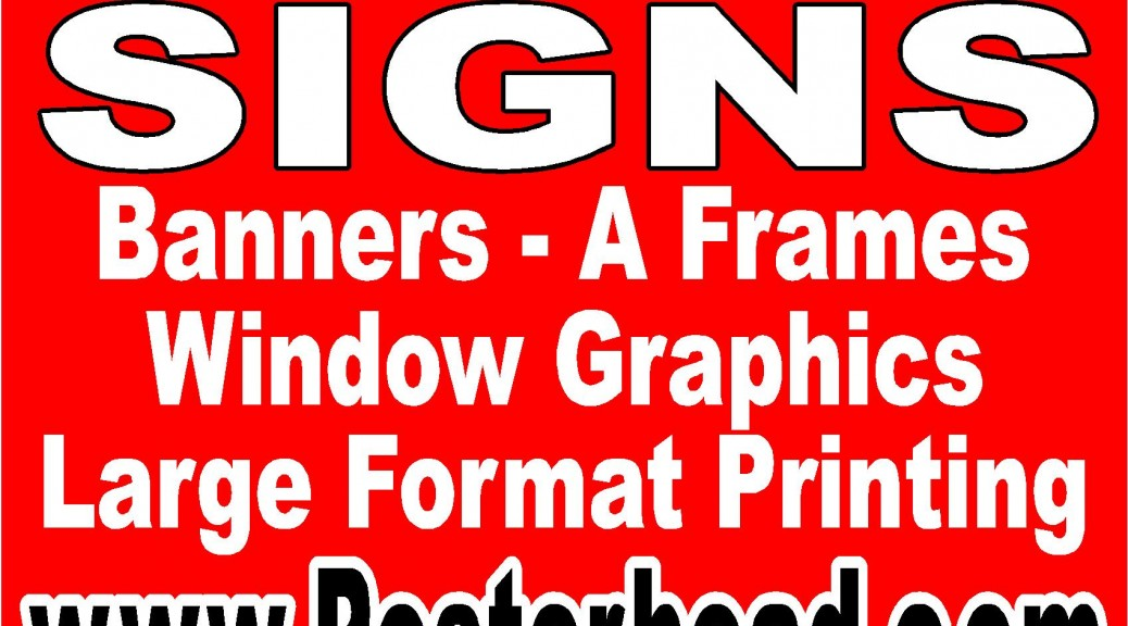 Custom Signs at Cheap Price in Vegas by www.Posterhead.com