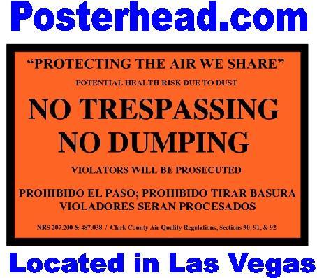 Orange No Trespassing Signs