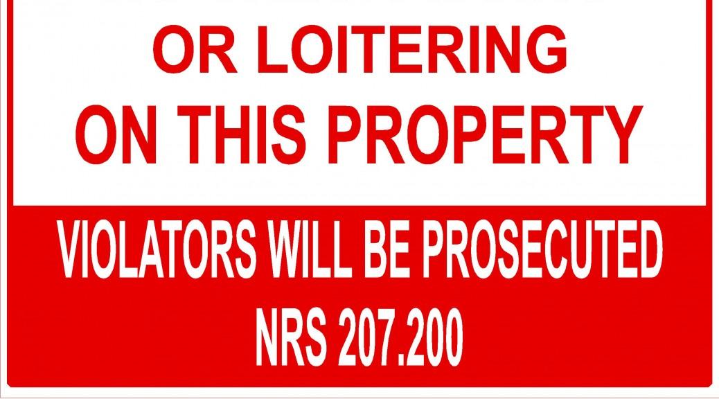 No Trespass Signs NRS 207.200