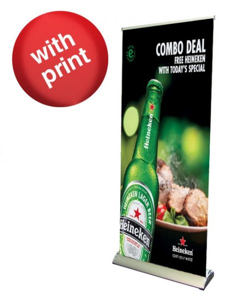 HD Premium Retractable Roll Up Banner 33″ x 80″